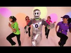 Sing & Dance with Dooby Wop the Robot and Lift your feet to the Robot beat!  Can you do the Robot?