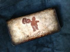 Deluxe Italian Leather Tobacco Pouch / Vintage Guitarist by HarrismaLeatherGoods, $49.45