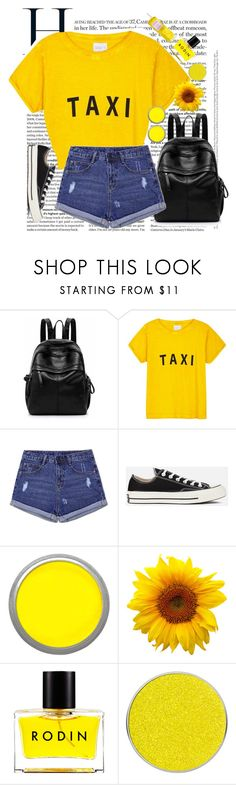 """Untitled #741"" by isabellefashion23 ❤ liked on Polyvore featuring Compañia Fantastica, Converse, Suva Beauty and Rodin"