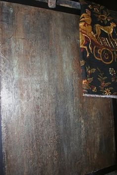 Finishing Acts: Rusted Plaster Faux Finish
