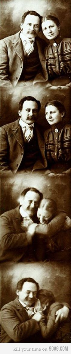 Victorian photo booth photo! Such a different side of people than we usually see from their stiff portraits.