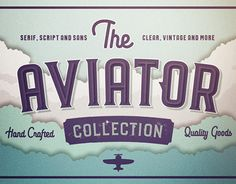 The #Aviator #Font #Collection by Vintage Voyage Design Co…