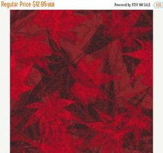YEAR END SALE Windfall~Real Red Leaves~Cotton Fabric, by Paintbrush Studio/Fabri-quilt Fast Shipping F790