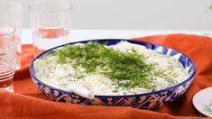 Dad's Creamy Cucumber Salad Vegetable Side Dishes, Vegetable Recipes, Vegetarian Recipes, Cooking Recipes, Healthy Recipes, Vegetarian Cooking, Healthy Salads, Keto Recipes, Creamy Cucumber Tomato Salad