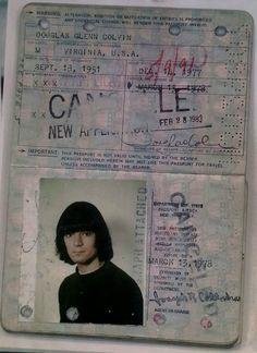 Dee Dee Ramone's Passport From the Anthony Van Hoek collection