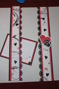 updated border with Be mine paper School Scrapbook Layouts, Love Scrapbook, Scrapbook Borders, Wedding Scrapbook, Scrapbook Embellishments, Scrapbook Sketches, Scrapbooking Layouts, Scrapbook Cards, Wedding Borders