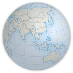 Example of a PowerGlobe for Illustrator in the map style Defined