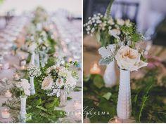 Alyssa Alkema - vintage wedding - Glen Abbey Golf Club - milk glass - blush - wedding table setting - vintage decor