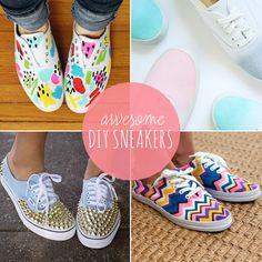 10 Spunky DIY Sneakers for Spring
