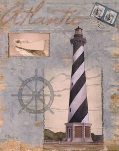 Paul Brent Poster Print Wall Art Print entitled Seacoast Lighthouse I Decoupage, Foto Transfer Potch, Framed Art Prints, Fine Art Prints, Deco Marine, Art Carte, Lighthouse Art, Nautical Home, Coastal Style