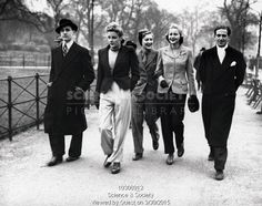 The latest trouser and jacket fashions, Hyde Park 1939.