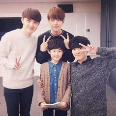 D.O , Baekhyun and Chanyeol... And probably what could be BaekYeol's child xD