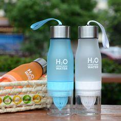 650ml H20 Water Bottle Health Lemon Juice Fruit Infuser Drinkware Outdoor Sport Bike Travel Bottles #Affiliate