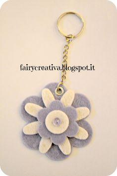 Fairy Creativa - portachiavi in feltro