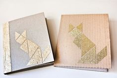 Notizheft Gold Tangram Fuchs Auswahl von bär von pappe auf DaWanda.com