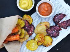 Krispiga rotfruktschips | Recept från Köket.se