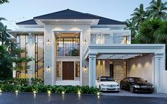 Classic House Exterior, Modern Exterior House Designs, Classic House Design, Modern Villa Design, Minimalist House Design, Dream House Exterior, Dream Home Design, House Structure Design, House Outer Design