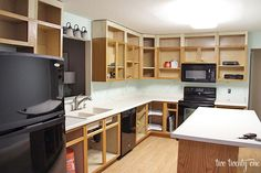 cabinet refacing 2 This is what I want to do in my kitchen Extend the cabinets to the ceiling and add molding It would have a small door for the top 2 doors stacked or re. Kitchen Cabinets Height, Kitchen Cabinets To Ceiling, Kitchen Soffit, Refacing Kitchen Cabinets, Upper Cabinets, Kitchen Redo, Navy Cabinets, Kitchen Makeovers, Kitchen Counters