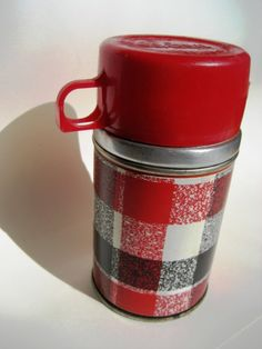 Plaid Vintage Thermos by TwelfthNightDesign  time for a break