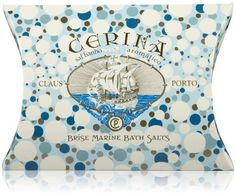Claus Porto Deco Collection Cerina - Marine Bath Salts-2.8 oz. by Claus Porto. $12.00. Inspired by the fresh scent of an early morning walk on the beach, the Cerina liquid soap, results in a cooling mixture of bergamot and apple, with the involving touch of sandalwood and vetiver. An unique sensation of freshness. 2 packets per envelope. Seaside RendezvousBath time just got more indulgent with Claus Porto Mineral Bath Salts. Using only natural Dead Sea salts, this therapeuti...