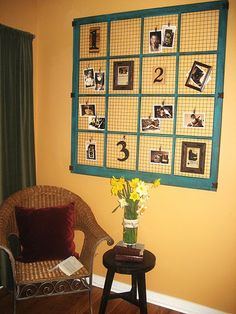 diy photo/memory display
