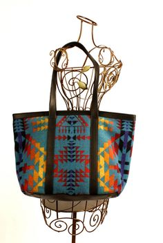Native American Inspired Tote Bag Wool by Pendelton. $125.00, via Etsy.