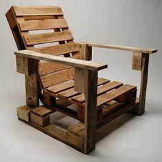 madeira: pallet: poltrona (melhor se colocar almofadas)