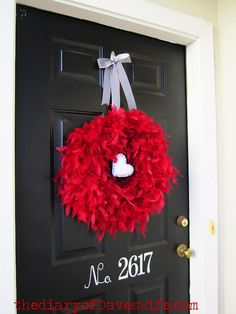 Feathery Valentine's Wreath