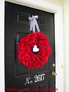 Feathery Valentine's Wreath