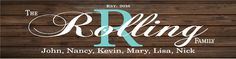 Custom Family Name Sign Monogram - Rustic Wood Sign or Canvas Wall Hanging - Wedding, Anniversary Gift, Housewarming by HeartlandSigns on Etsy