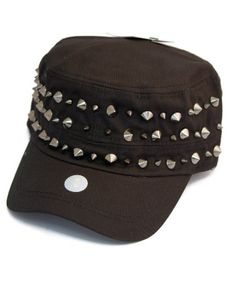 b05e96257f2 Stylish Spiked Punk Design Military Style Cap. Gothic Dress Code · Mens  Hats and Gloves