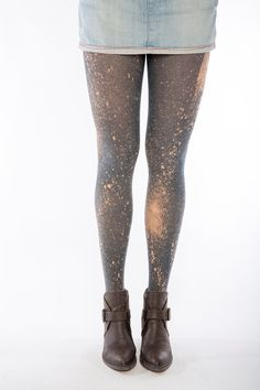 639b1838c2c Limited edition gray cotton tights printed in a by SternTights Galaxy  Fashion