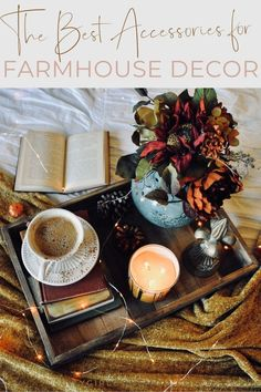 12 Farmhouse Accessories to Make Your Home Perfect for Fall Farmhouse Decor Ideas. This season, we took stock of our absolute must-have fall farmhouse accessories to give your livi. Farmhouse Interior, Modern Farmhouse Decor, Farmhouse Homes, Farmhouse Design, Home Interior, Farmhouse Ideas, Interior Ideas, Interior Design, Diy Projects On A Budget