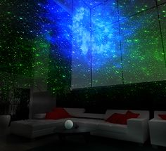 - GALAXY 3D LASER LIGHT SHOW: a galaxy for your bedroom! OMG I NEED THIS!!