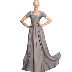 Dearta Women's A-Line Sweetheart Floor-Length Chiffon Evening Dresses ** To view further, visit now : Mother of the Bride