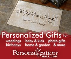 PersonalizationMall.com- Personalized Gifts for All of Life's Celebrations