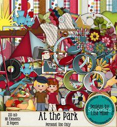 At the Park Park Scrapbook Kit, Outdoors Scrapbook Kit, Kid Scrapbook Kit, Picnic Scrapbook Kit, Digital Scrapbook Kit