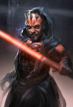 obi-wans-oasis:   Darth Maul by Hey Iena. - Star Wars Galaxys