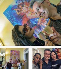 Henrique Vieira Filho veio ao Rio e emprestou algumas de suas telas dos acervos particulares da querida personalidade da sociedade carioca Márcia Veríssimo (@marcialaverissimo) da linda e talentosa atriz global Laíze Câmara (@laizecamara) e da grande cantora Aline Wirley (@aline_wirley)! As telas Goddess Isis Sweet Mermaid e Indomitable tiveram uma sala especial dentro da histórica Mansão Hasbaya no bairro nobre dos Jardins em São Paulo para a Exposição Asas Na Arte! Henrique Vieira Filho…