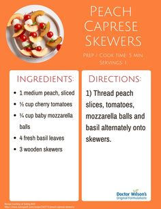 Caprese Skewers, Effects Of Stress, Fresh Basil Leaves, Original Recipe, Cherry Tomatoes, Eating Well, Peach, The Originals, Cooking