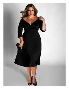 Little Black Dresses for Women To view more attractive black dresses or information visit www.plussizexl.com