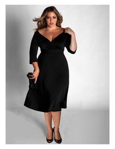 Little Black Dresses for Women To view more attractive black dresses or information visit www.plussizexl.com