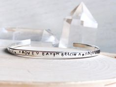 Custom Sterling Silver Mantra Cuff