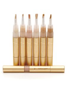 Jane Iredale Active Light Under Eye Concealer creates a soft-focus effect that conceals while it brightens. It's specifically formulated to reduce inflammation and puffiness around the eyes and to disguise wrinkles, fatigue, and deep creases. This stuff is potent and requires a light touch!