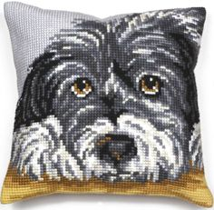 Faithful Dog Cushion Panel Cross Stitch Kit from Collection D'Art from £20.95