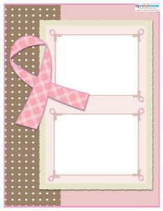 free breast cancer scrapbook layouts