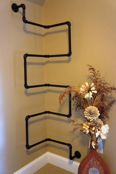 Industrial Iron Corner Bookshelf