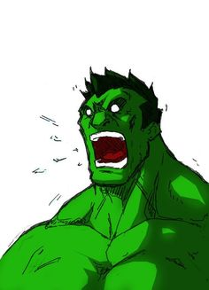 #Hulk #Fan #Art. (Head sketch: Hulk) By:Anny-D. ÅWESOMENESS!!!™ ÅÅÅ+