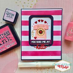 #greetingcards #handmadecards #diy #diycards #diycrafts #diycraftideas #telephonedie #diecutcards #valentinecards #artandcraft Distress Ink, Diy Cards, Stationery, Love, Creative, Pink, Papercraft, Amor, Rose