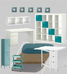 IKEA items to incorporate into sewing cottage: Raskog cart, wall cubes, shelving